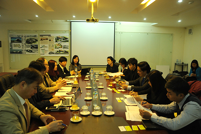 The leader of VIUP had a meeting with the Korean delegation discussing the technical assistance project for establishment of Vietnam green city master plan