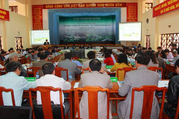 "VIUP leader attends the scientific conference ""Model of green urban villages"" in Da Lat"